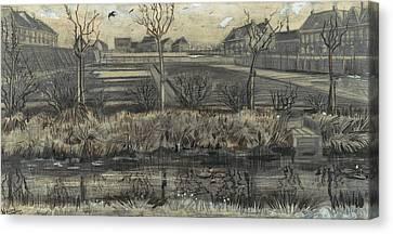 Nursery On Schenkweg Canvas Print by Vincent van Gogh