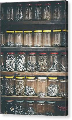Bolts Canvas Print - Nuts And Bolts And Bolts And Nuts by Scott Norris