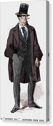Bowery Canvas Print - Ny Gangs: Bowery Boy, 1857 by Granger