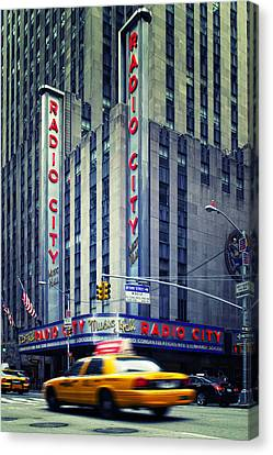 Nyc Radio City Music Hall Canvas Print by Nina Papiorek