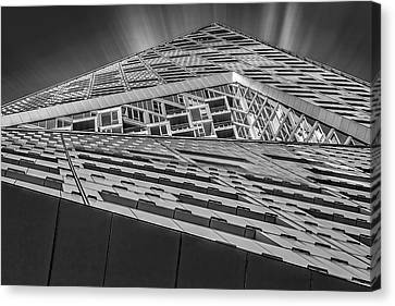 Canvas Print featuring the photograph Nyc West 57 St Pyramid by Susan Candelario