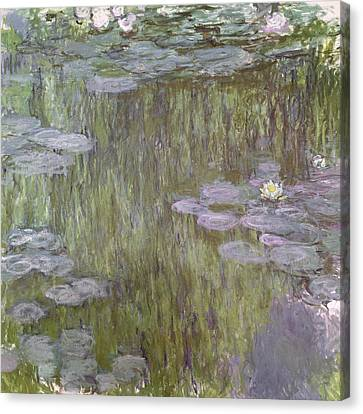 Weeping Willow Canvas Print - Nympheas At Giverny by Claude Monet