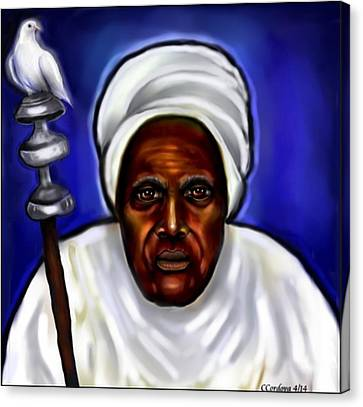 Obatala- Father Of Orishas Canvas Print by Carmen Cordova