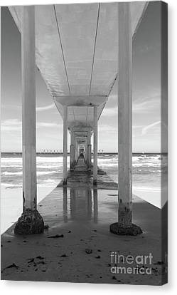 Canvas Print featuring the photograph Ocean Beach Pier by Ana V Ramirez