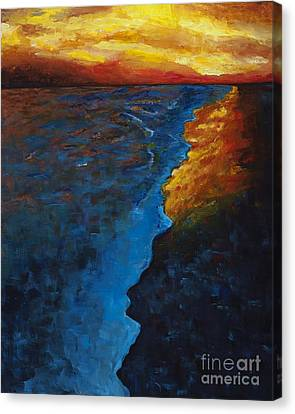 Ocean Sunset Canvas Print by Frances Marino