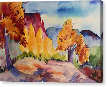October At Ghost Ranch Canvas Print