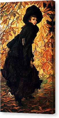 October Canvas Print by James Jacques Joseph Tissot