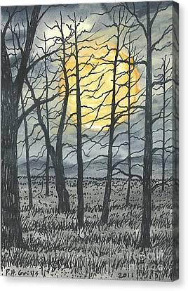October Moon Canvas Print