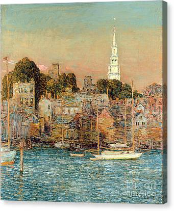 Port Town Canvas Print - October Sundown by Childe Hassam