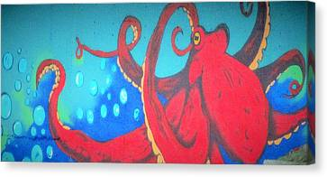 Octopus Canvas Print by Martin Cline