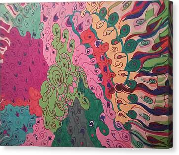 Octopus Canvas Print by Modern Metro Patterns and Textiles