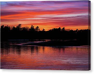 Odiorne Point Sunset Canvas Print