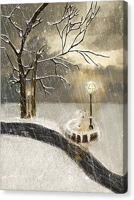 Oh Let It Snow Let It Snow Canvas Print by Angela A Stanton