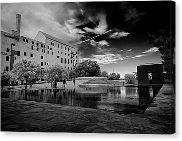 Okc Memorial Canvas Print by Ricky Barnard