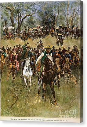 Oklahoma Land Rush, 1891 Canvas Print by Granger