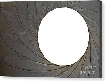 Old Aperture - Exposure Diaphragm Canvas Print