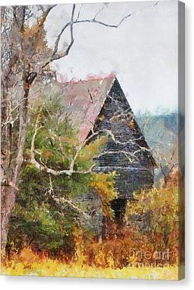 Old Barn At Cades Cove Canvas Print