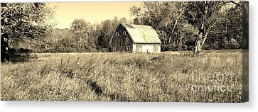 Old Barn In The Meadow Canvas Print