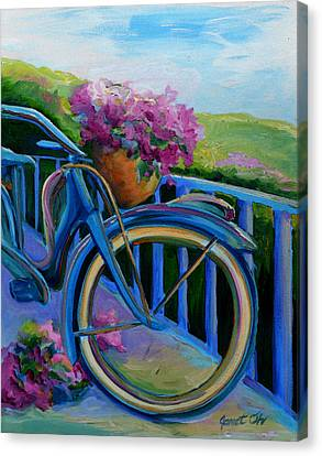 Canvas Print - Old Bicycle On The Front Porch by Janet Oh