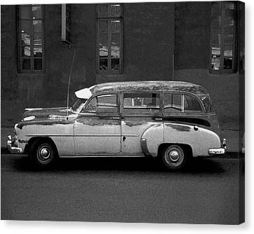 Canvas Print featuring the photograph Old Chevy by Jim Mathis