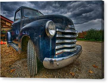 Old Chevy Canvas Print by Mike Horvath