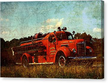 Old Fire Truck Canvas Print by Off The Beaten Path Photography - Andrew Alexander