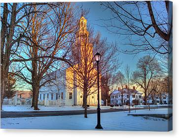 Old First Church - Bennington Vermont Canvas Print by Joann Vitali