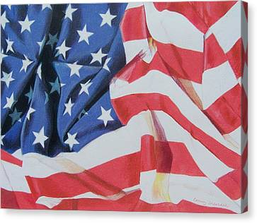 Old Glory Canvas Print by Constance Drescher