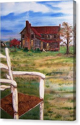 Old Home  Canvas Print by Penny Everhart
