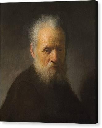 Old Man With Beard Canvas Print - Old Man With Beard by Rembrandt