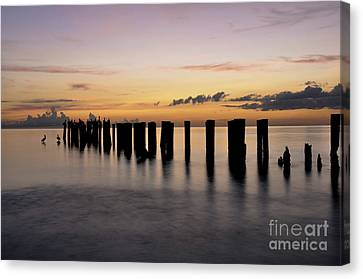 Canvas Print featuring the photograph Old Naples Pier by Kelly Wade