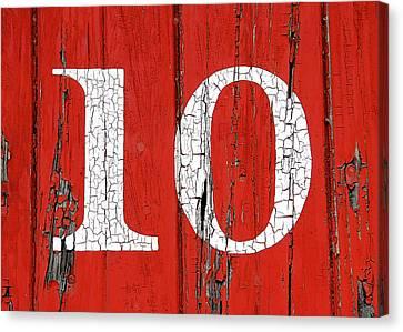 Old No. 10 Canvas Print by Todd Klassy