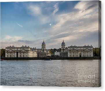 Old Royal Naval College In Greenwich Village, London Canvas Print by Frank Bach