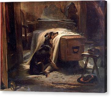 Old Shepherds Chief Mourner Canvas Print by Landseer Edwin