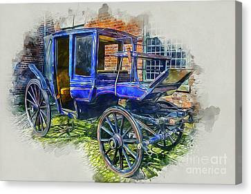 Black People Canvas Print - Old Stagecoach by Ian Mitchell
