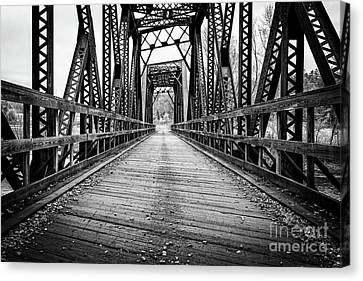 Old Steel Train Bridge Canvas Print by Edward Fielding