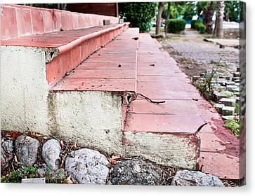 Old Steps Canvas Print