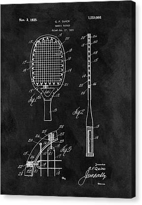Old Tennis Racket Patent Canvas Print