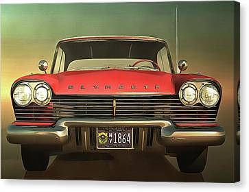 Old-timer Plymouth Canvas Print by Jan Keteleer