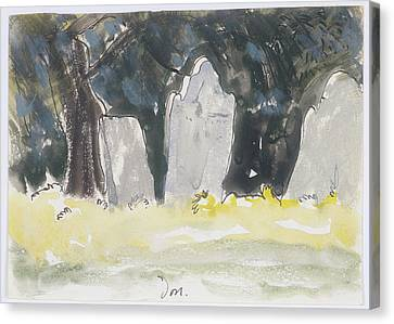 Headstones Canvas Print - Old Tombstones by Mountain Dreams