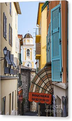 Old Town In Villefranche-sur-mer Canvas Print by Elena Elisseeva