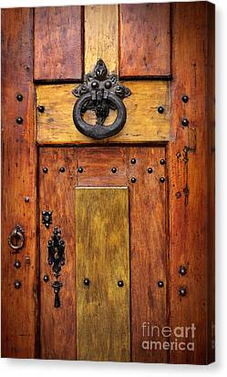 Old Wooden Door Canvas Print by Carlos Caetano