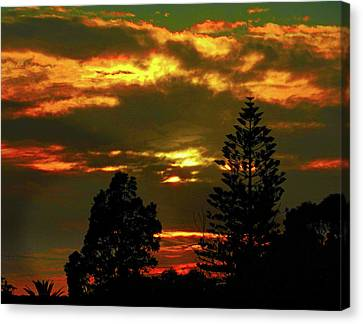 Canvas Print featuring the photograph Ominous Sunset by Mark Blauhoefer