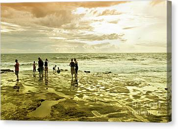 On The Beach Canvas Print by Charuhas Images