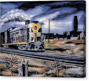 On The Rails Canvas Print by Gerald Ziolkowski