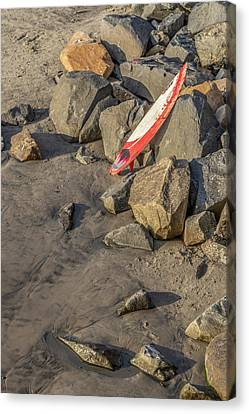 Surf Lifestyle Canvas Print - On The Rocks by Peter Tellone