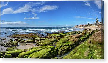 On The Rocky Coast Canvas Print by Peter Tellone