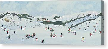 On The Slopes Canvas Print