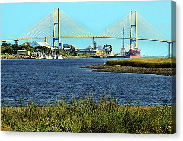 On The Waterfront Canvas Print by Laura Ragland