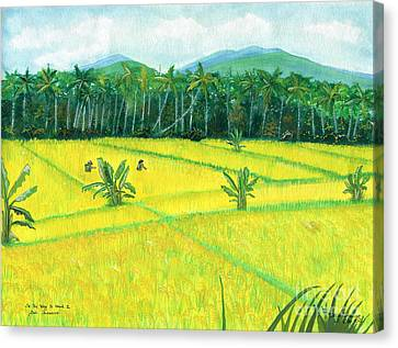 Canvas Print featuring the painting On The Way To Ubud II Bali Indonesia by Melly Terpening